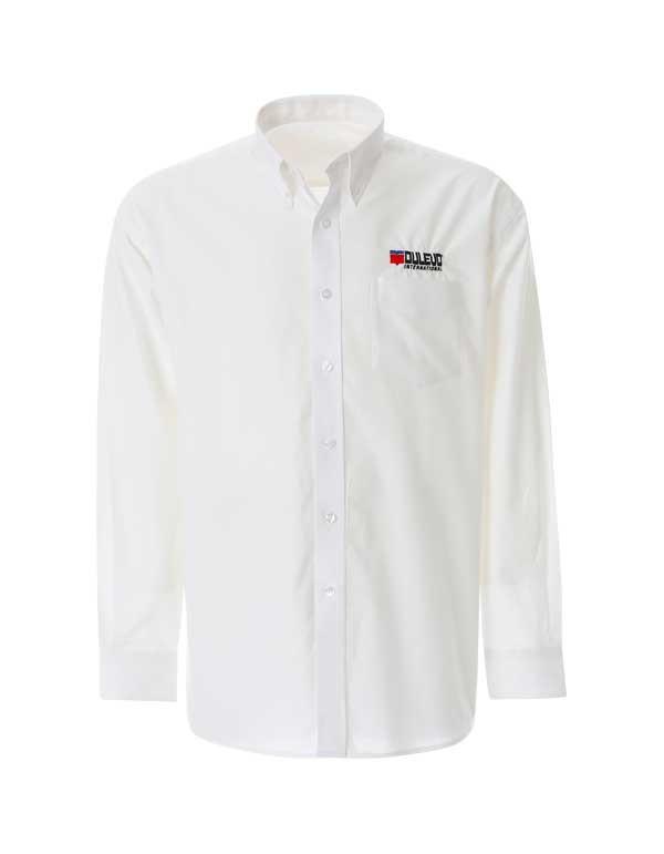 Camicia uomo. Un must in ogni ambiente di lavoro. Logo Dulevo