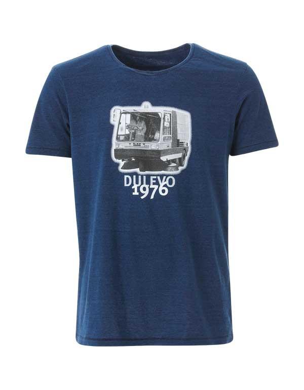 T-shirt biologica a girocollo effetto denim. Dulevo